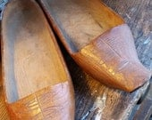 SALE - 1/2 Price Unusual Hand Carved Wooden Shoes Marked France 1919 from Rustysecrets