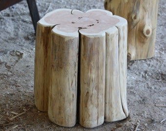 Rustic Tree Table, Seat, Table base, Stool, S,M, L sizes available, unfinished, sanded ready for home, wedding, art, landscaping, project