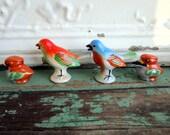 Vintage lot Bird Salt and Pepper shakers Colorful sets of birds poecelain