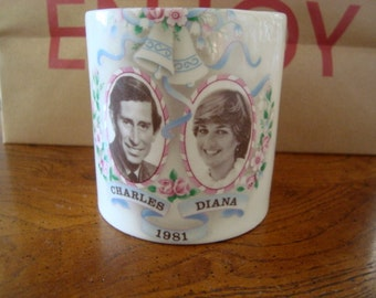 1981 Royal Wedding Charles & Diana Tea Mug Event Souvenir
