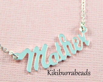 Mothers Necklace, Sterling Silver, Mothers Day Gift