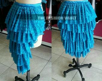 Sale Handmade Iridescent Burlesque bustle skirt Cosplay Manga Lolita