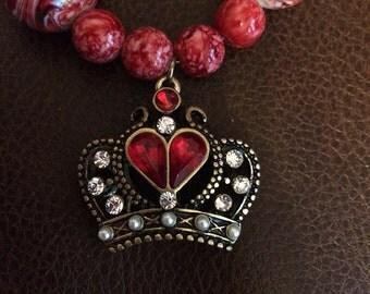 Crown bubble necklace