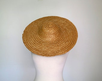 THE GLEANERS AND I // 1960s straw wide brimmed hat