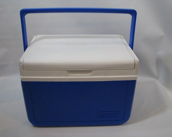 Vintage Coleman Personal Ice Chest Beer Cooler Picnic Lunch Box 5205