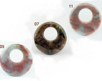 GEM03010105) 1 pc of 45mm Fancy Jasper, Round Donut Shape