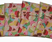 Cupcakes PUL Pad Wrapper/ Mini Travel Wet Bag