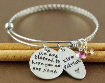 my greatest blessings call me grandma hand stamped by anniereh