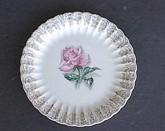 "Vintage American Limoges 10"" Plate- Le Fleur Rouge"