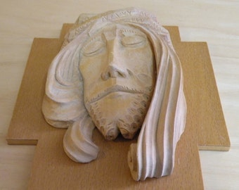 Italian Hand Carved Jesus Face