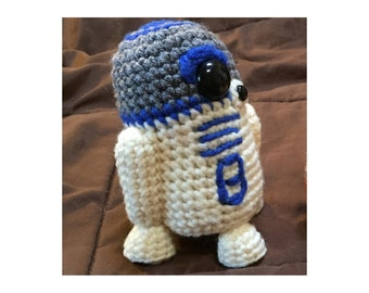 R2D2 Star Wars Inspired Droid Crochet Pattern PDF