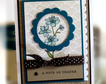 Stampin' Up A Note of Thanks Card