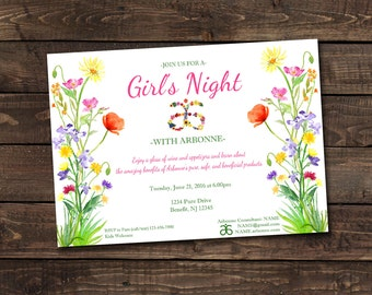 Arbonne Party, Girls Night Invitation- Print Your Own