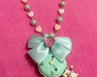 White Rabbit Macaron necklace