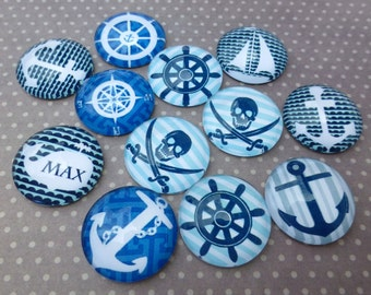 free UK postage 20mm Nautical Cabochon Mix Pack of 15