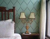 Serenity Allover Stencil Pattern - Size: Large - DIY Home Improvement - Better than Wallpaper