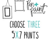 THREE 5 x 7 art prints, Inspirational Quote, Bible Verse, Scripture, Rainbow, Colorful, Joy Quote, Inspiring Quote