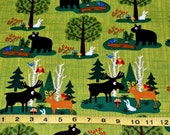 Green Cotton Outdoors fabric 1 yard listing