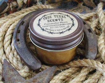 Comanche Moon (Moonlight Pomegrante type)- 4 oz mason western cowboy candle