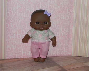 8LC1-59) 8 inch Lil Cutesie Berenguer baby doll clothes, 1 pants and top set
