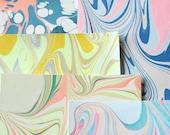 Marbled Paper Remnants - Pop of Neon