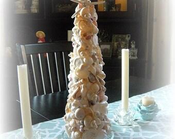 Oh Holy Night Seashell Christmas/topiary Tree