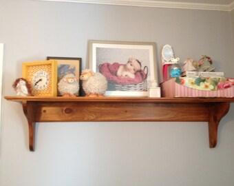 large wood shelf