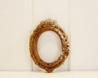 Vintage Oval Frame Gilt Plaster Frame Great Patina