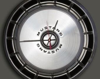 1971 - 1973 Ford Mustang Hubcap Wall Clock - 1972 Hub Cap