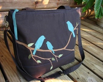 DIAPER BAG/ Tote /Let Your Dreams Take Flight /Zipper opening/ One Large Outside zipper pocket/ 11 large interior pockets
