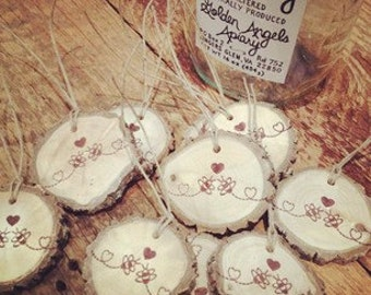 Rustic Favor Tags Smores Love 100 Wood Slice Tags