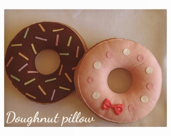 Etsy Doughnut pillow plush -cute kawaii food cushion