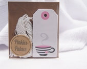 Small Teacup Gift Tags Birthday Tags Favor Tags Set of 12