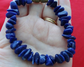 "Vintage 1980s 7"" sodalite bracelet in great condition"