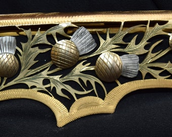 1930's Evening Bag with beautiful cutwork metal clasp