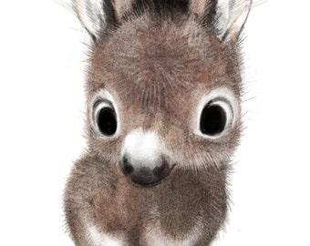 Little donkey print
