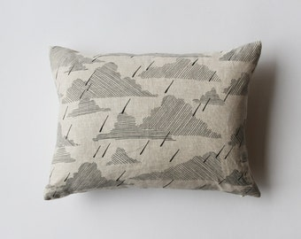Linen Pillow Cover - Light Rain