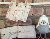 Scandi Style Fabric Name Tag for your Santa Sack, Stocking or Gift