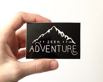 Seek Adventure. Vinyl Sticker Hiking Gear Laptop Sticker Camping Sticker Car Decal Bumper Sticker Mountain Outdoors Explore MacBook Decals