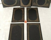Victorian Photo Mat Frames...Wedding Table Numbers...Lot of 6 New Old Stock...Steampunk Midnight Black and Gold Mats...Lot #5