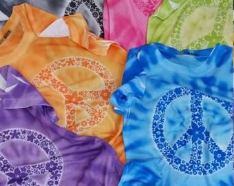 Youth Tie Dye Peace Shirt