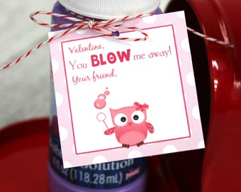 Valentine Bubble Tags, DIY, Printable, Instant Download