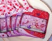 "Valentine Fairy Gift Tag Set ""Heart Dance"""