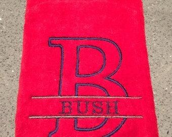 Monogram Golf Towel - BBQ Towel