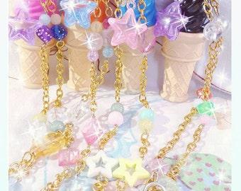 Fairy Kei Ice Cream Bubble Necklace