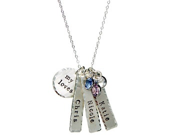 Sterling Silver My Little Loves Personalized Necklace