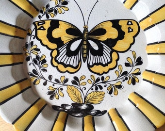 Beatiful Mid Century Butterfly Bowl Raymor Made in Italy