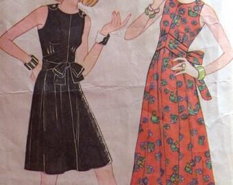 Vintage 70s McCalls 3460 Dress  -size 12
