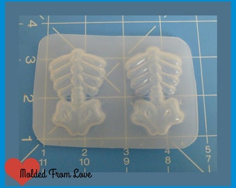 SALE 2  Detailed Anatomical Ribcage torsos Handmade Plastic Resin Mold
