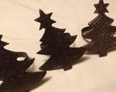 Vintage Christmas Tree napkin rings set of 3